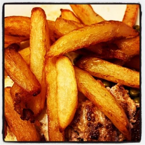 Drie keer gekookte frieten