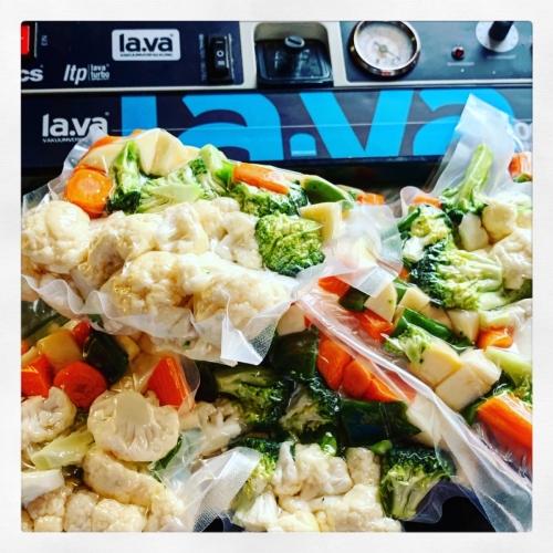 Gemengde groenten,  sousvide bereid