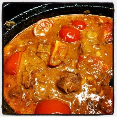 Rundsvlees in Rode Currysaus