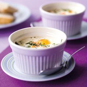 Eieren in cocotte met zalm & spinazie