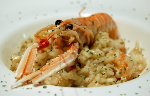 Risotto met Langoustines